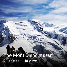 The Mont Blanc masif